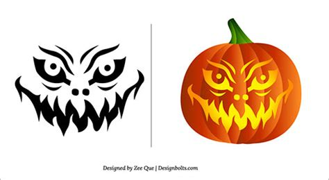 scary but easy pumpkin carving patterns halloween 2013 free scary pumpkin carving patterns ideas stencils