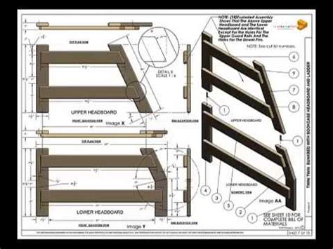 twinfull bunkbed plans youtube