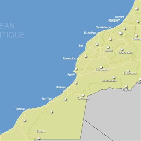 Carte Du Maroc Avec Les Principales Villes by Carte Routes Et Principales Villes Du Maroc Vectorielle