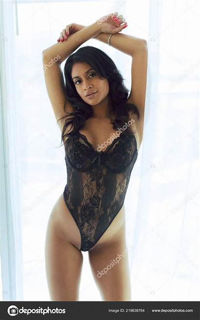 Lingerie Indian Woman Natural Attractive Poses Window