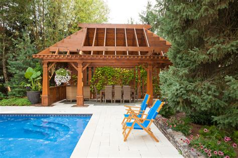 naperville luxury custom gazebo pergola cabana pool