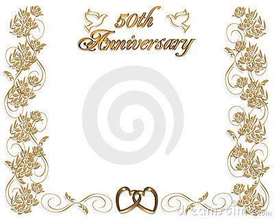 Wedding Anniversary Invitation 50 Years Royalty Free Stock