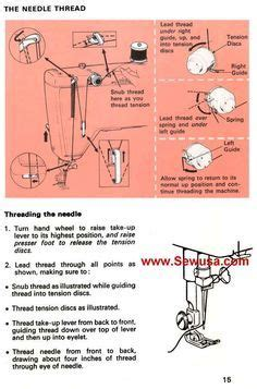 Singer Sewing Machine Instruction Manual Touch Sew