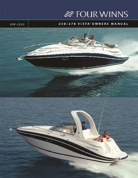 Four Winns Boat Owners Manual by 2005 2008 Four Winns Vista 258 278 Boat Owners Manual