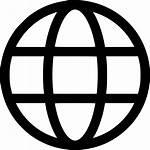Globe Icon Web Circle Round Wide Svg