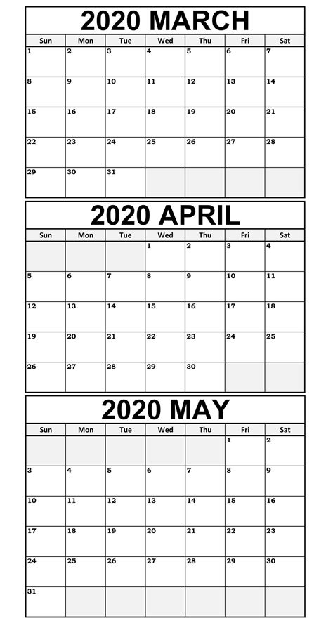 printable march    calendar templates