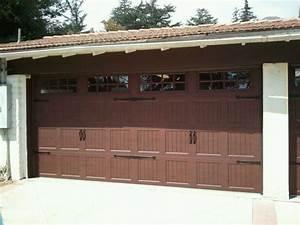 Carriage style door kims overhead garage doors for Brown carriage garage doors