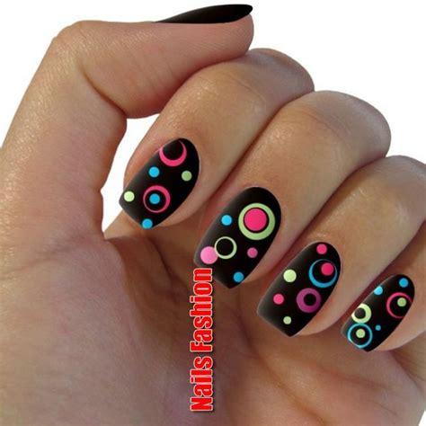 bright polka dots nails   pinterest nails