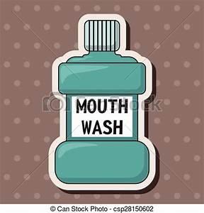 Vector Clipart of Mouthwash theme elements csp28150602 ...
