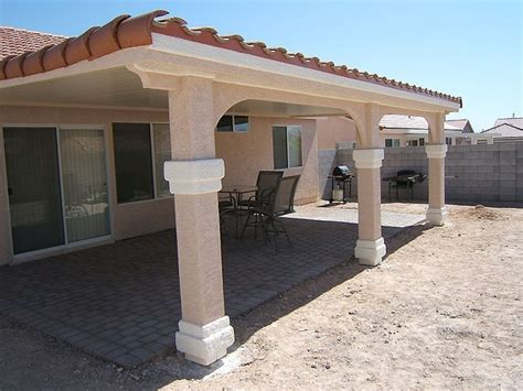 ultra patios alumawood patio cover with stucco post