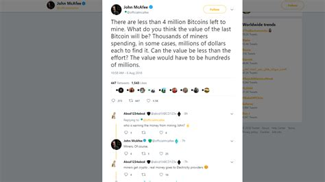 His family jewels, which mcafee claimed he would eat on national television of the price target was not hit. John McAfee has been right about Bitcoin price predictions ...