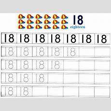 Worksheet On Number 18  Free Printable Worksheet On Number 18