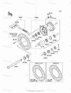 Kawasaki Motorcycle 2008 Oem Parts Diagram For Rear Hub