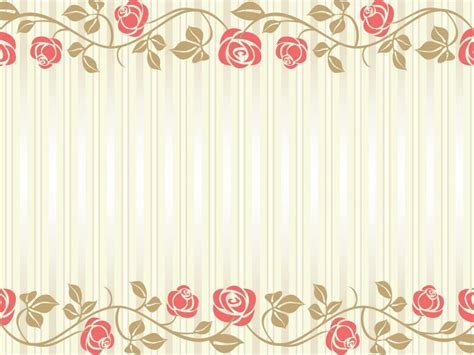 flowers wedding frame backgrounds  powerpoint templates