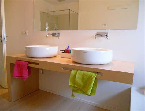 Bagno Con Mensole Mobile Bagno Con Mensola In Legno Doppia Postazione