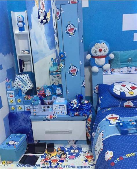 desain kamar tidur gambar doraemon