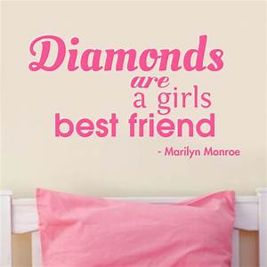 Diamonds Are A Girls Best Friend Wall Art Quote