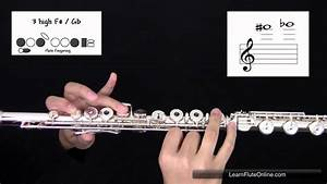 How To Play The Note F Sharp Or G Flat F   Gb On The Flute