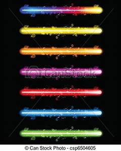 Clipart Vector of Laser Neon Colorful Lights Vector