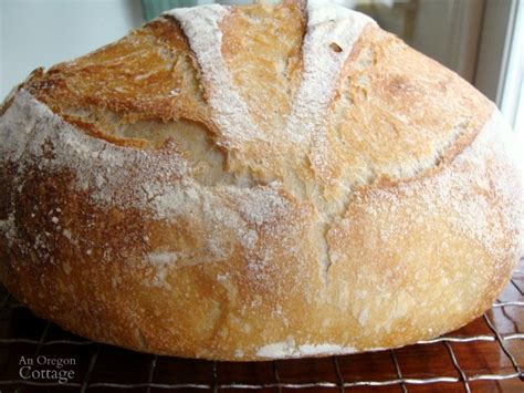 easy sourdough artisan bread recipe  oregon cottage