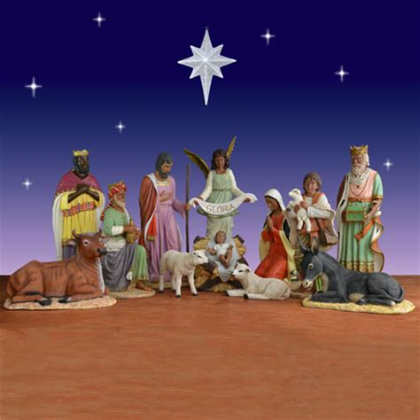 piece african american nativity set fiberglass