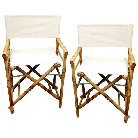 bamboo directors chairs canvas decobizz