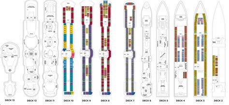 Radiance Of The Seas Deck Plan 8 by Radiance Of The Seas Deck Plans Luxury Quest Travel Llc