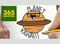 COMO DIBUJAR PLANETA KAWAII PASO A PASO Dibujos kawaii