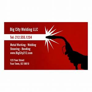 Customizable welding business card for Welding business cards templates