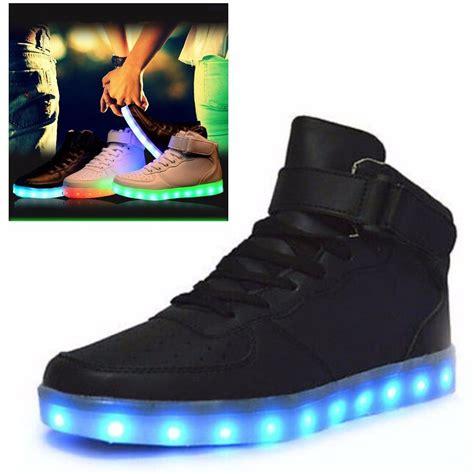 free light up shoes led night light lovers unisex men womens light up trainer