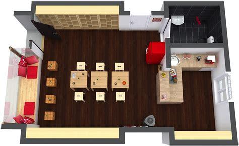 coffee shop plan roomsketcher