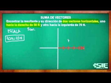 si鑒es de suma de vectores con misma dirección y diferente sentido