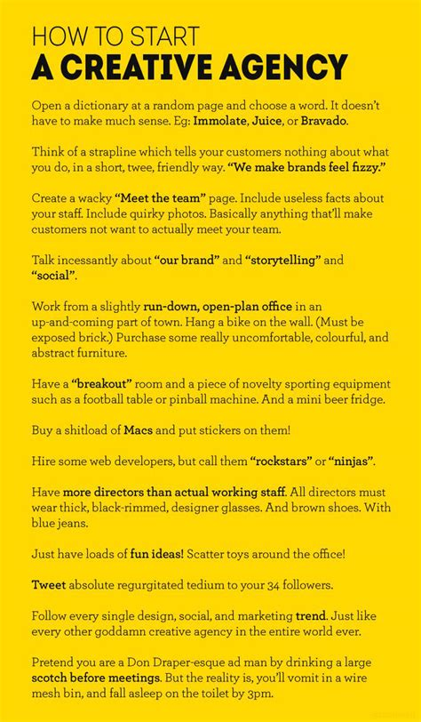 Lol A 13step Guide To Starting Your Own Creative Agency