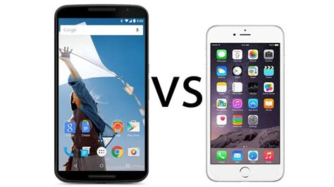 iphone vs smartphone nexus 6 vs iphone 6 comparison pc advisor
