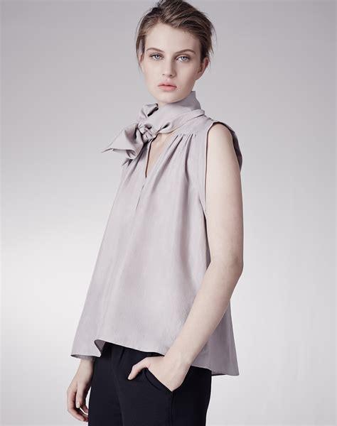 silk tie neck blouse tie neck silk blouse shirts blouses me em