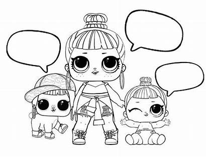 Lol Coloring Pages Dolls Doll Bubble Talk