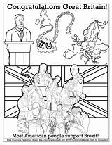 Coloring Pages Britain Brexit Congress Congratulations Sheets Books Coloringbook Getcolorings sketch template