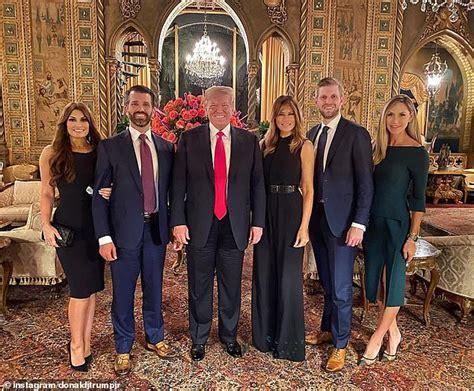 trump lago mar donald president jr melania thanksgiving guilfoyle kimberly dinner wife his eric night son goals belated ivanka worth