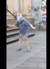 elderly woman dancing  heart     day