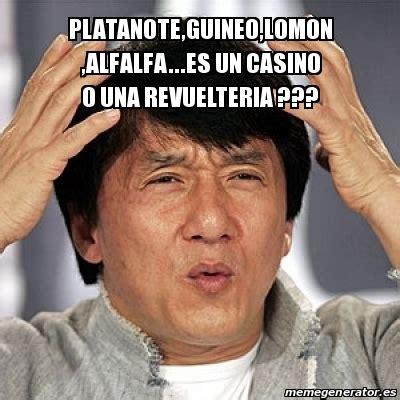 Alfalfa Meme - meme jackie chan platanote guineo lomon alfalfa es un casino o una revuelteria 18877833
