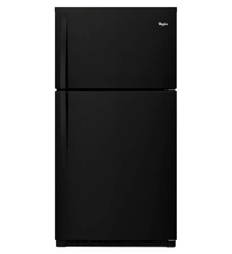 whirlpool   wide top freezer refrigerator