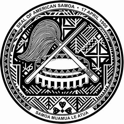 Seal American Samoa Svg Vector Flags
