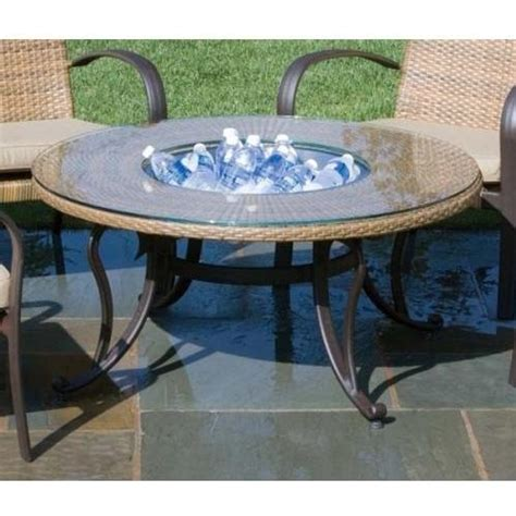 alfresco home loggia outdoor beverage glass top wicker