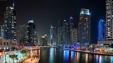 landscape dubai city night wallpapers hd desktop