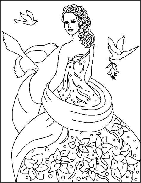 Gratis Kleurplaat Prinses by Gratis Prinses Kleurplaten Voor Kinderen