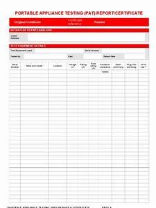 Pat testing certificate for Pat testing template free