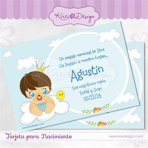 Tarjetas De Nacimiento Para Imprimir Con Foto Nena Tarjetas  Tarjetas De Nacimiento Para