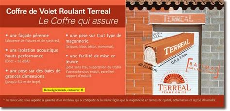coffre terreal volet roulant terreal gros oeuvre decoration coffre de volet roulant