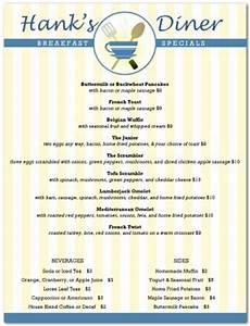 American Breakfast Menu Letter Template | Breakfast Menus