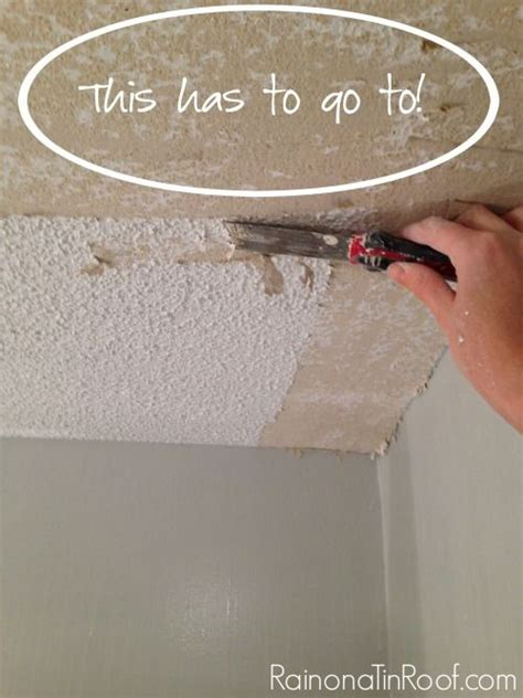 remove popcorn ceiling     removing
